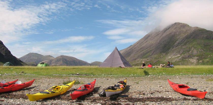 packing a sea kayak