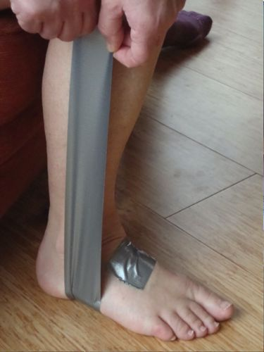 First Aid - Temporary Support for Sprained Ankle