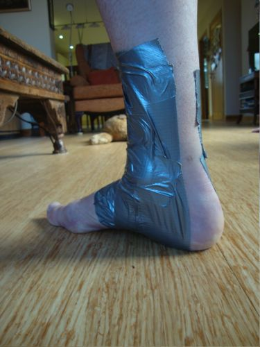 First Aid - Temporary Support for a Sprained Ankle