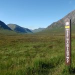 The West Highland Way winds its way north into the Highlands