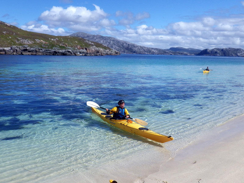 Sea kayaking in the Outer Hebridean sun
