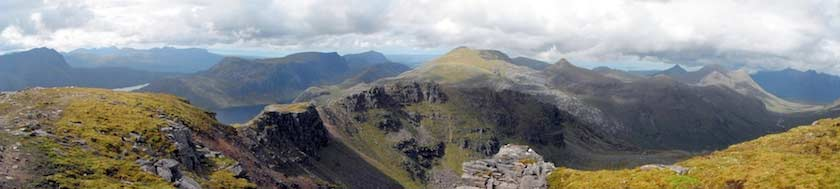 Fisherfield panorama, of the most dramatic walks in the Highlands