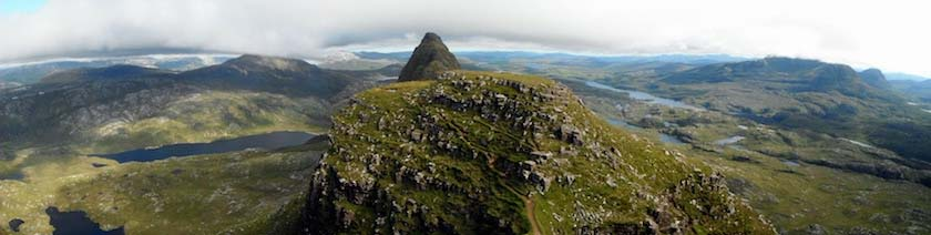 Suilven, Assynt. One of the most dramatic walks in the Highlands.