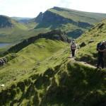 Walking into the Quiraing, Skye