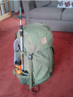 A well packed rucksack.