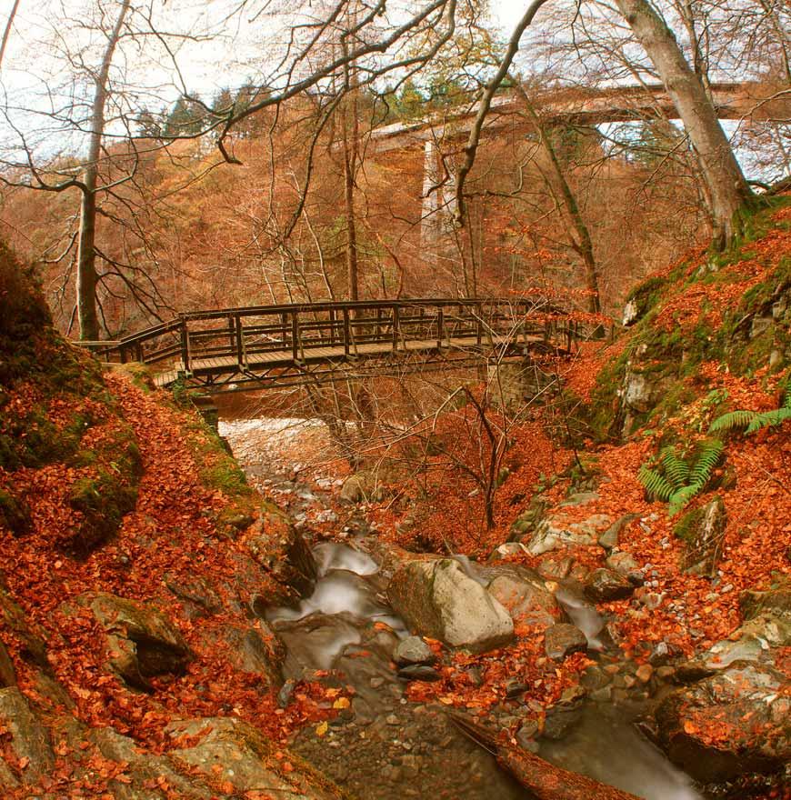 walks in highland perthshire, river garry