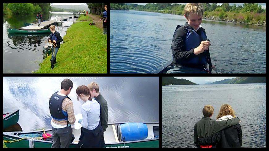 Family Canoeing the Great Glen