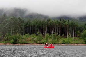 Family Canoeing the Great Glen