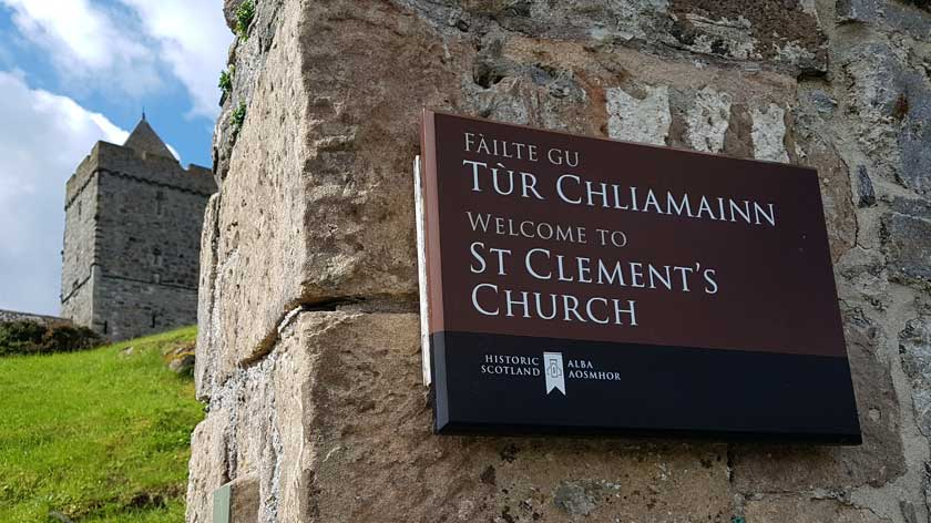 Welcome to St Clement's Church sign
