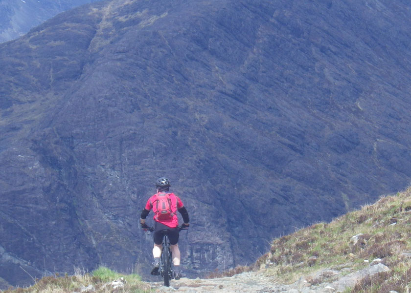 Downhill mountain biking in the Torridon mountains