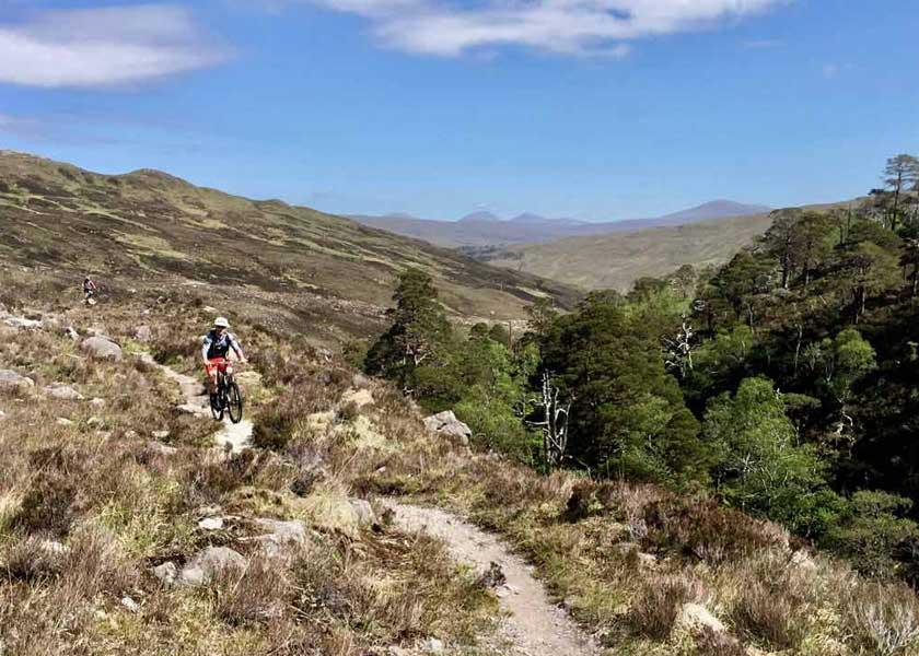 single track mountain biking torridon