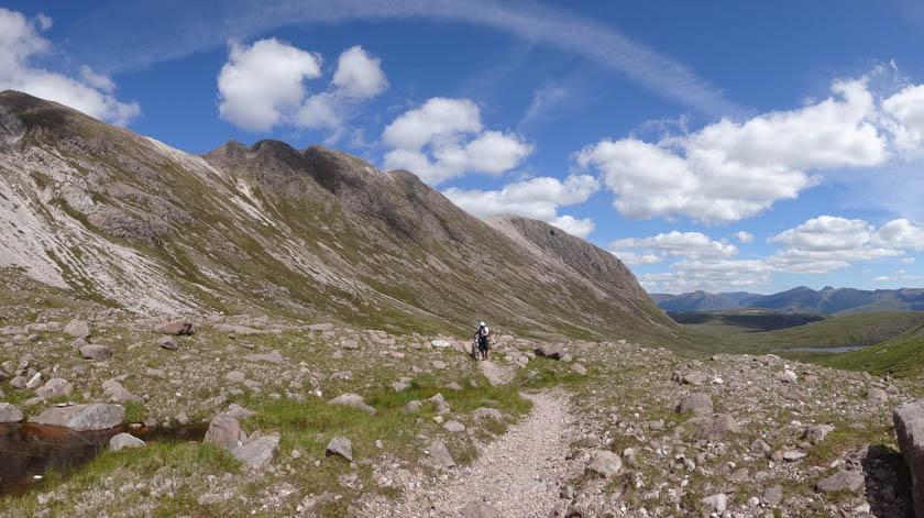 mountain biking in the torridon sunshine