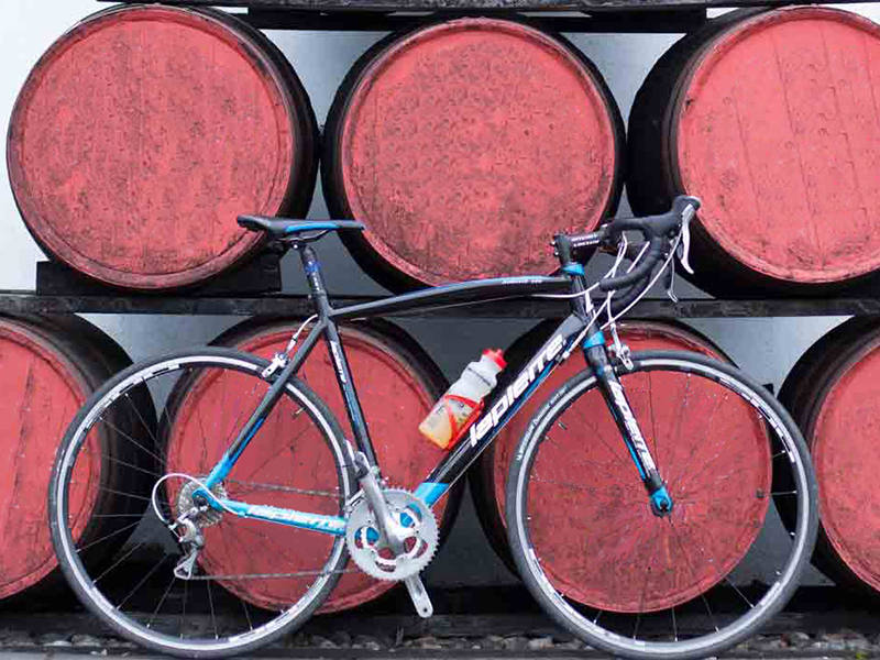 bike and whisky casks