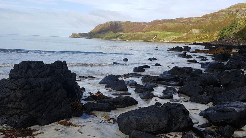 Charol rocks on the beach in Mull