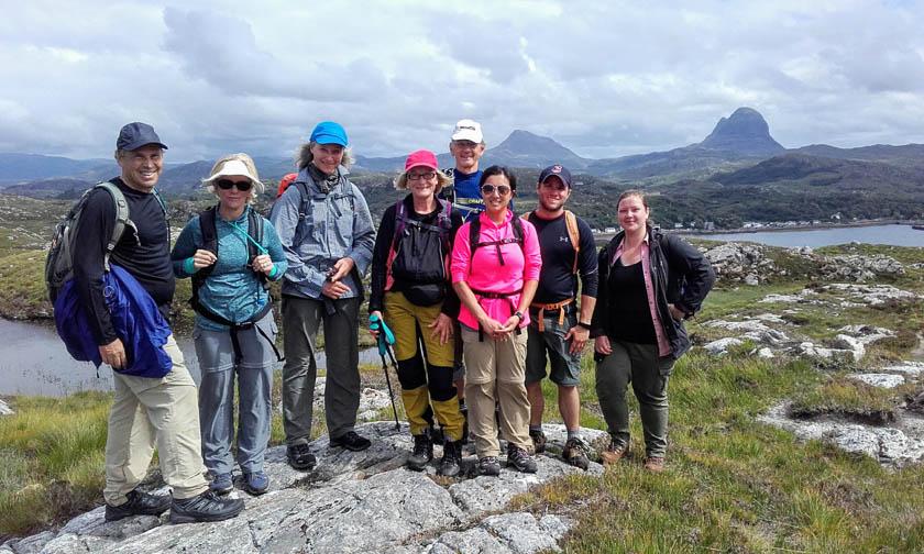 Group photo highland outdoors