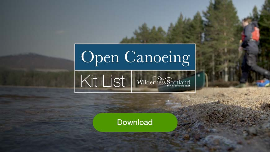 What to wear open canoeing in Scotland pdf