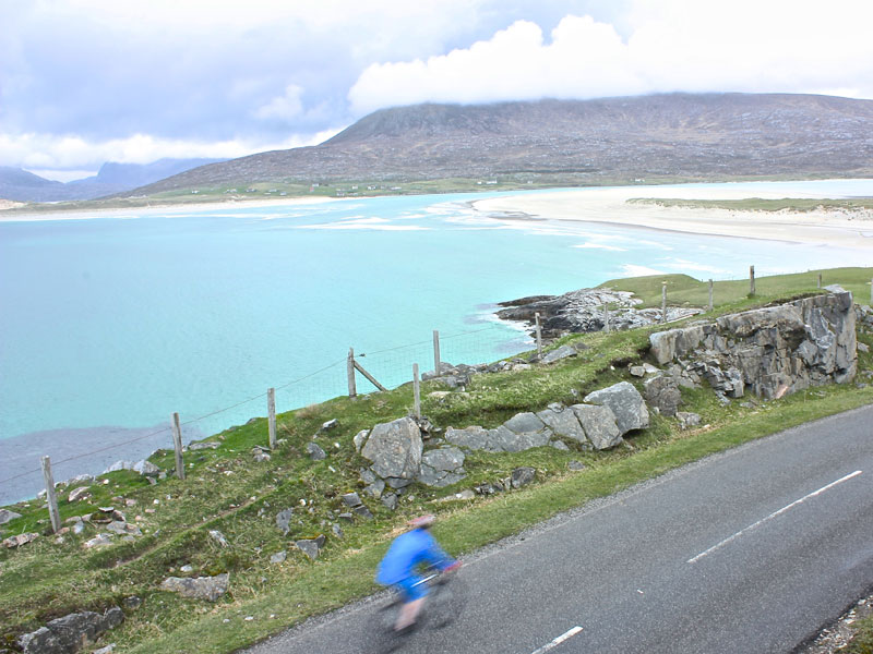 Road cycling in the outer Hebrides