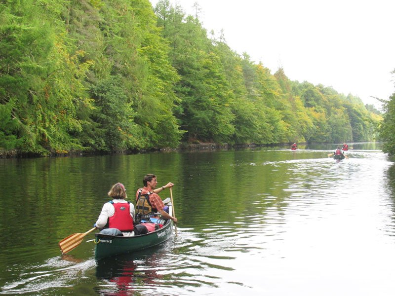Caledonian canal canoeing